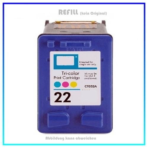 HP-22, C9352AE, REF22 Refill HP Color Tintenpatrone No.22 - Inhalt ca.17ml