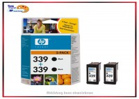 Nr.339 DOPPELPACK Schwarz C9504EE Original HP Tinte Inhalt 2x21ML passend fuer DJ 5740/6540