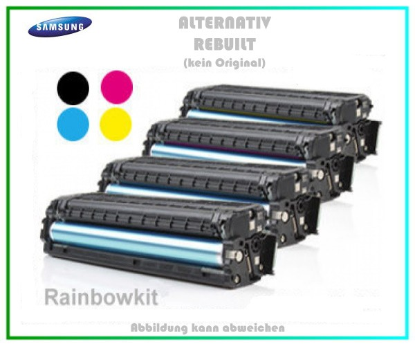 Rainbowkit TONCLP320 mit Chip BK+C+M+Y Toner fuer Samsung CLP 320 - CLP 325 - BK=1500S, C,M,Y=1000S