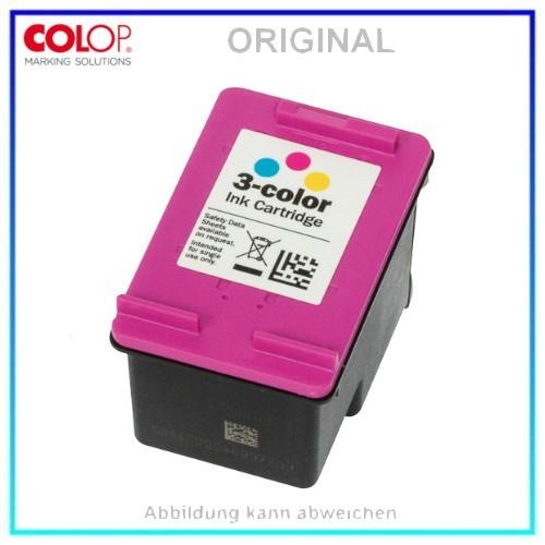 COLOP E-MARK TINTE CMY 153562 5000 ABDRUCKE, Dreifarbige Original Tintenpatrone EAN 9004362515241