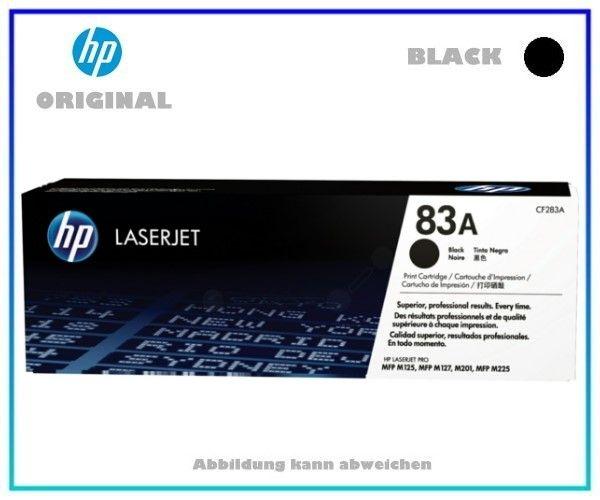 CF283A Original HP Toner Black für HP LJPROMFP, CF283A - Inhalt 1.500 Seiten.