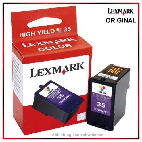 Nr. 35 - 18C0035 - original Lexmark Tintenpatrone color fuer P910 - X7110, Inhalt f. ca. 450 Seiten.