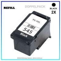 REFPG545XL Doppelpack Refill Tintenpatrone Black für Canon 8286B001, PIXMA IP2850,MG2450, 2X15 ml