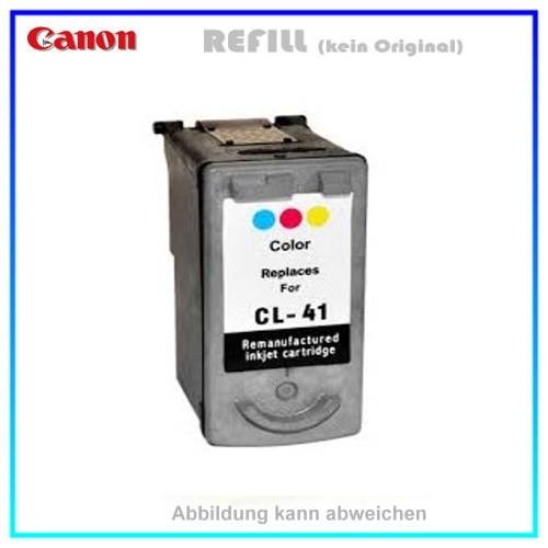 REFCL41/51 Refill Tintenpatrone Color für Canon - CL41/51,CL-41,CL-51,CL41,CL51 - Inhalt ca. 21ml