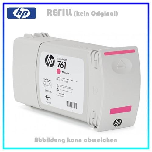 CM993A, 761, Refill Tintenpatrone Magenta für HP CM993A, Designjet T7100 Plotter, Inhalt 400ml