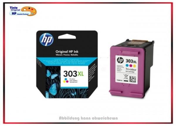HP Original Tintenpatrone HP-303XL, Color, T6N03AE, Farbe - T6N03AE - C=415 Seiten