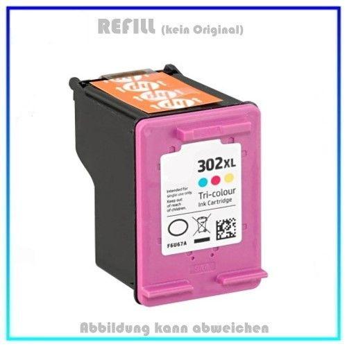 REF302CXL - HP Refill Patrone Color f. F6U67AE - HP Nr 302CKXL - Inhalt ca. 18ml.