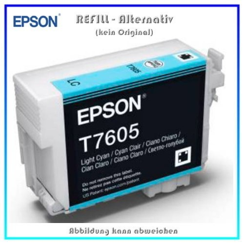 BULK T7605 Alternativ Tintenpatrone Light Cyan für Epson - C13T76054010 - Inhalt 32ml