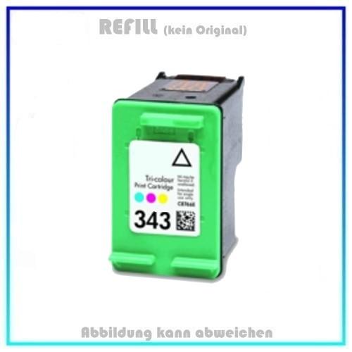 REF343 Refilltintenpatrone Color, 343, (C8766) - 18 ml, passend für HP Desjet 6540.