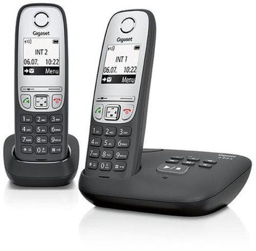 Gigaset A415 A Duo schwarz - Klassisches Schnurlostelefon mit Anrufbeantworter. Versandkostenfrei