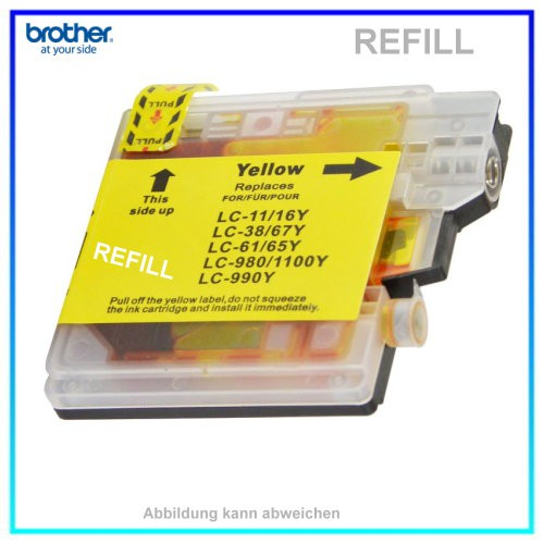 LC980 - LC1100Y (Neutral) Tintenpatrone Yellow f. Brother LC-980VAL, LC-1100VAL, DC - MFC