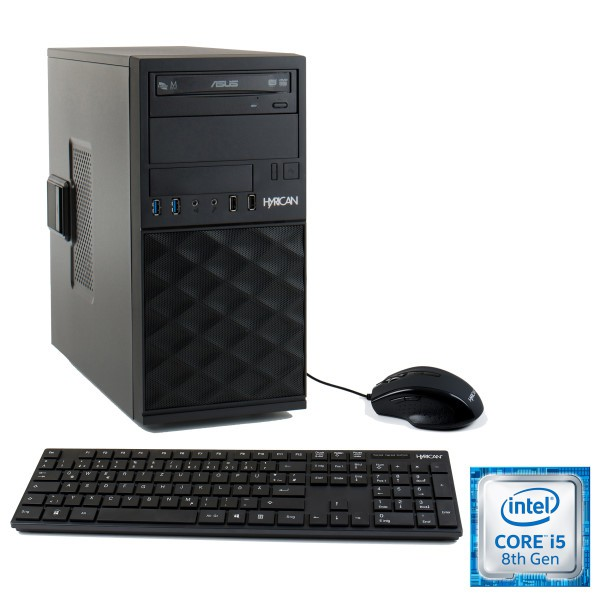 Hyrican® GIGABYTE Edition 6218, Tower, Intel® Core i5 8400 2.8 GHz, RAM 8 GB, SSD 480 GB