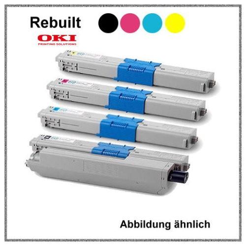 C310BK + C310C + C310M + C310Y - PACKET - Black + Cyan + Yellow + Magenta - Mehrweg Toner für Oki C3