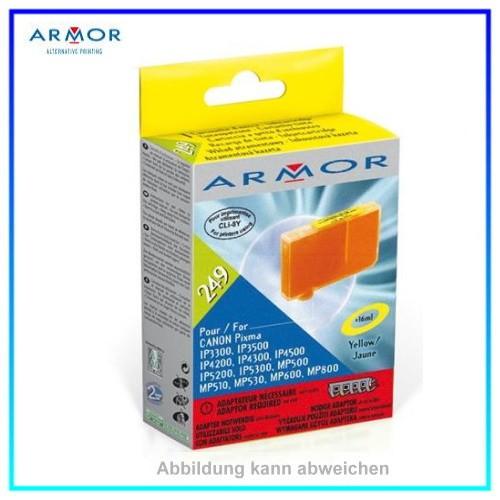 249 Armor CLI8 yellow (nur mit Adapter aus StarterSet verwendbar) Canon IP4200, IP4300, IP5200,16ml