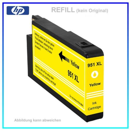 REF951YXL - 951YXL - Refill Tintenpatrone Yellow für HP - CN048AE - Inhalt ca. 26ml