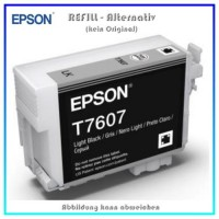 BULK T7607 Alternativ Tintenpatrone Light Black für Epson - C13T76074010 - Inhalt 32ml