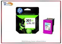 HP-301XLC, CH564EE, Original Tintenpatrone Color für HP CH564EE, Inhalt 8 ml =330 Seiten.