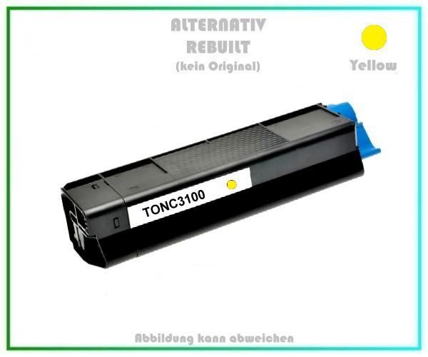 TONC3100 Alternativ Toner C3100, Yellow für OKI - 42804513 - Inhalt 4.500 Seiten