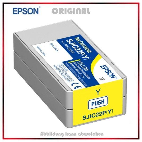 Epson C33S020604, Gelb , Original Tintenpatrone, C33S020604/SJI-C-22-P-(Y) - Inhalt 32.5ml