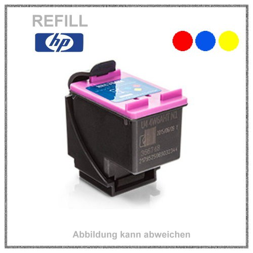 REF304XLC Refill Tinte Color für HP - N9K07AE - Inhalt ca. 18ml