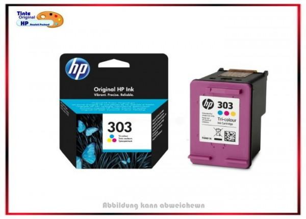 HP Original Tintenpatrone HP-303 Color, T6N01AE, Farbe - T6N01AE - C=165 Seiten