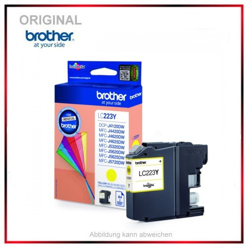 LC223Y - Yellow - original Tinte f. Brother DCP - LC223Y - Inhalt 550 Seiten