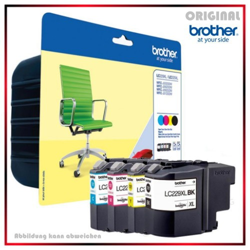 LC229XLVALBP - BK/C/M/Y - Multipack - Brother - Original Tinte f. Brother MFC-J5620 / 5625 / 5720 --