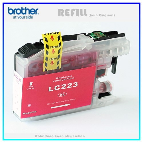 BULK LC223XLM Alternativ Tintenpatrone Magenta für Brother LC223M - Inhalt ca. 10ml