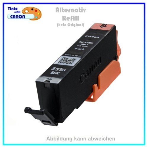 BULK CLI551BKXXL Alternativ Tintenpatrone Black für Canon 6508B001, Inhalt ca. 15ml