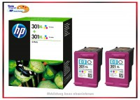 HP-301CXL, D8J46AE, Original Color Doppelpack Tintenpatronen Color - D8J46AE - Inhalt: 2x330 Seiten