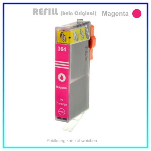 BULK 364M Alternativ Tintenpatrone Magenta für HP CB324E - HP364M - Inhalt ca. 13ml (kein Original).