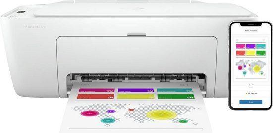 HP DeskJet 2710 All in One Printer Multifunktionsdrucker, (WLAN (Wi-Fi), Bluetooth)