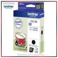 LC22UBK - Original Tinte Black f. Brother - LC22UBK - DCP-J785DW - MFC-J 985 DW  Inhalt 2.400 Seiten