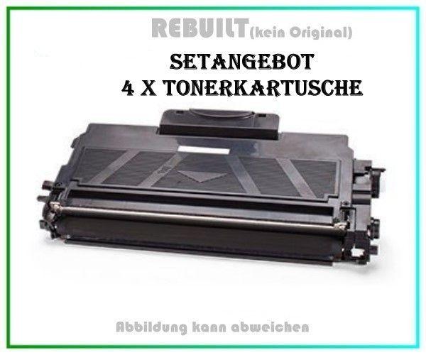 4er Set TONTN2010 Alternativ Tonerkartusche Black für Brother TN2010, HL-2130, Inhalt 4 X 2.500 S.
