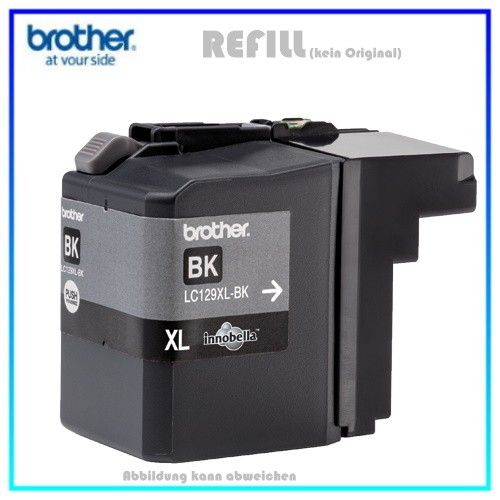 BULK LC129XLBK Alternativ Tinte Black für Brother LC129XLBK - Inhalt ca. 54,7ml (kein Original)