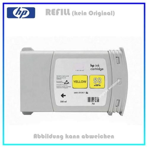 REFC4848A Refilltintenpatrone HP Yellow - Nr.80 - für HP DNJ1050 - Designjet 1050C, Inh. 350ml