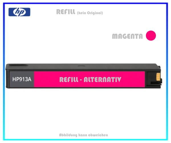 REF913M Refill Tintenpatrone Magenta für HP F6T78AE - 913M - HP913 - Inhalt ca. 55ml