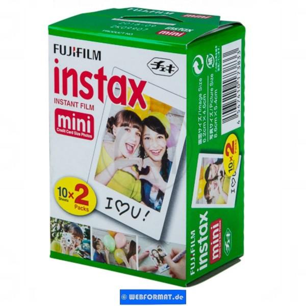 Fujifilm INSTAX FILM MINI 16386016 Instax Film 2X10Batt, im Karton verpackt.