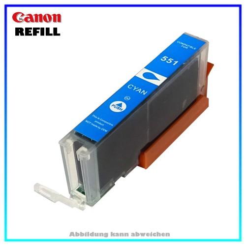 CLI551CXL (mit Chip) Alternative Canon Tintenpatrone (schmal) Cyan - 6509B001 - Inhalt ca. 15ml