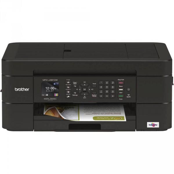 BROTHER MFCJ491DW 4IN1 Tintenstrahldrucker, Gehäuse: Schwarz, MFCJ491DWG1, DIN A4, DUPLEX, WLAN, MUL