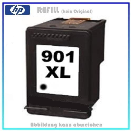 REF901BKXL Refill Tintenpatrone HP - Black Nr. 901 für HP CC654AE - Inhalt 18ml (kein Original).