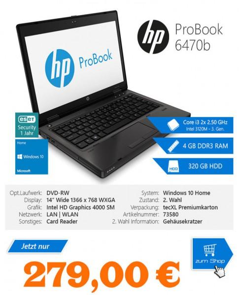 Hewlett Packard Probook 6470b / Intel 3120M Core i3 2x2.50 GHz / 14 / 1366 x 768 WXGA / Intel HD Gra