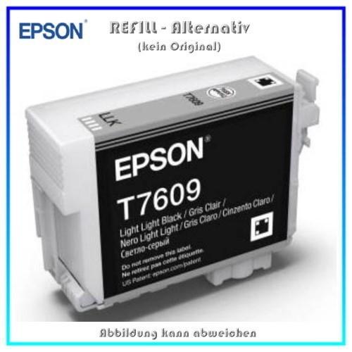 BULK T7609 Alternativ Tintenpatrone Light Black für Epson - C13T76094010 - Inhalt 32ml