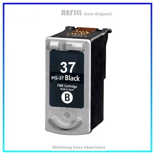 REFPG37 Refill Tinte Black für Canon 2145B001 - Inhalt: 15ml