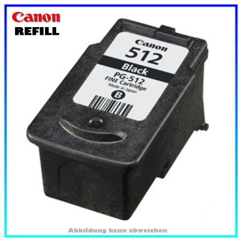 PG512 Refillpatrone Black für Canon Pixma MP 240 - MP 480 - MP 260 - MP 250 - MP 490 - MP 495 - MX 3