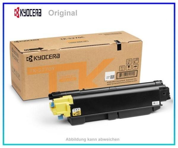 TK5270Y, TK5270Y, 1T02TVANL0, Original Toner Yellow, TK-5270Y, für Kyocera, Y=6.000 Seiten