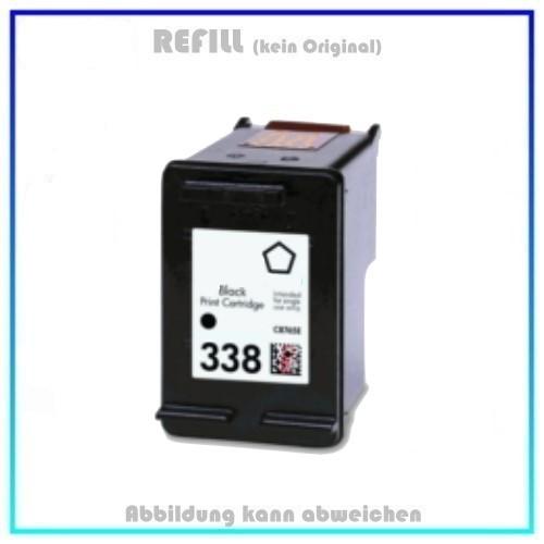 REF338 Refilltintenpatrone Schwarz, 338, (C8765E) - passend für HP Desjet 6540 - Desjet 6540D