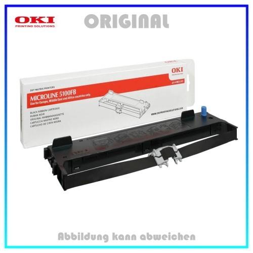 Original Farbband Black 43821103 fuer OKI ML5100 FB ECO (Original) - Kapazität ca. 2.000.000 Zeichen
