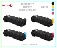 TONPHASER6500-PAK, Alternativ Toner Black + Cyan + Magenta + Yellow Paket - f. Xerox Phaser 6500