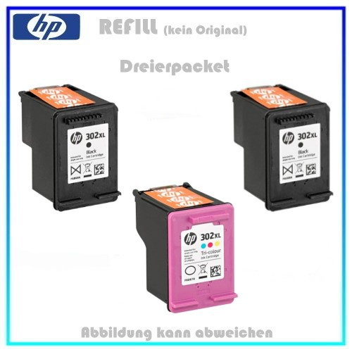 Multipack 302XL Alternativ, Pack HP Black & Color f. HP X4D37AE, HP Nr 302XL, BK=2x18ml, C=1x18ml.